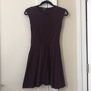 Topshop maroon size 6 dress
